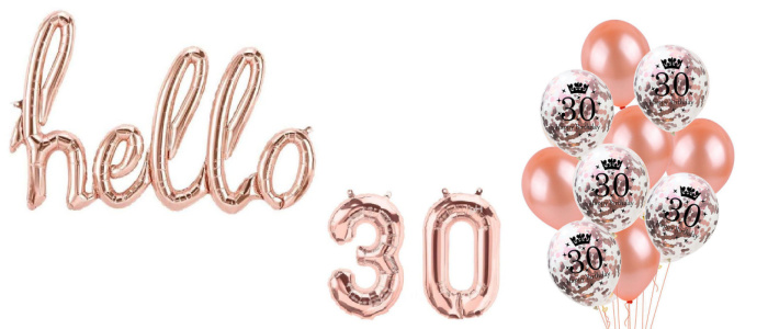 Rose Gold 30th Decorations