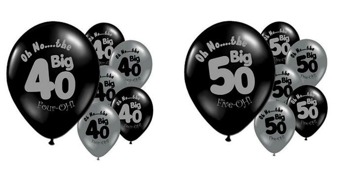 40th balloons