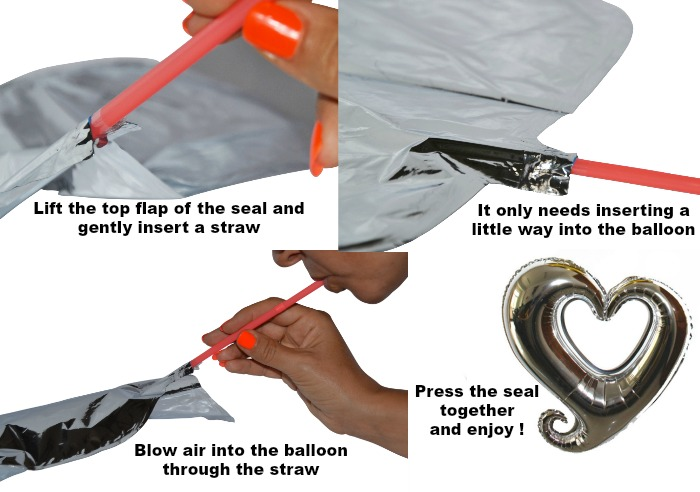 inflate foil balloons