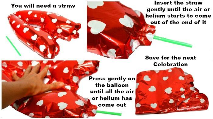 deflate foil balloons