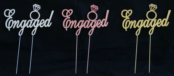 engagement ring cake toppers