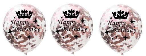 rose gold happy bday balloons